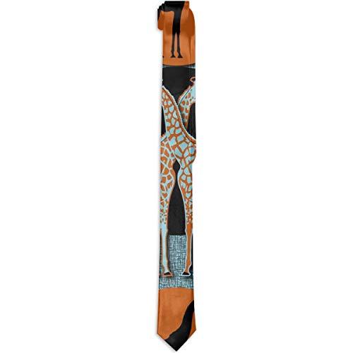 Paedto Corbatas para hombre corbata formal novedad accesorio para disfraz amor corbata de jirafa cena noche fiesta boda corbata S para hombres