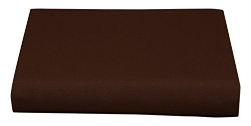 Cathay Luxury Silky Soft Polyester Single Fitted Sheet, Twin Size, Chocolate