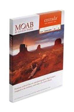 Moab Entrada Rag Bright ERB300131925 Papier aus Baumwolle für Tintenstrahldrucker, 3, zweiseitig, 300g, Hochglanz, 25 Blatt