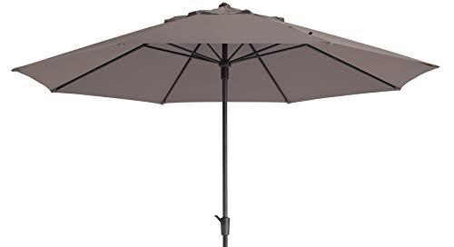 Mad Absolut wetterfester Gartenschirm Timor Luxe 400 Taupe, mit Kurbel, UV-Schutz 50 Plus