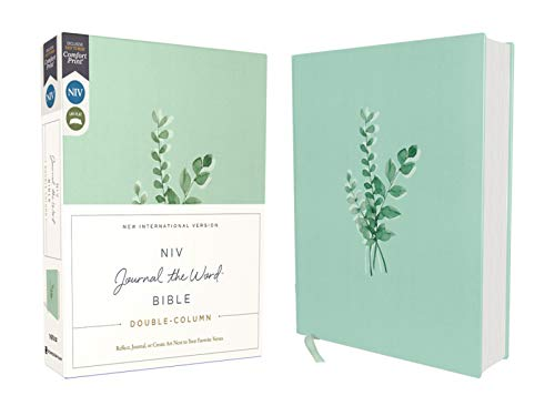 NIV, Journal the Word Bible, Double-Column, Cloth over Board, Teal, Red Letter, Comfort Print: Reflect, Take Notes, or Create Art Next to Your Favorite Verses