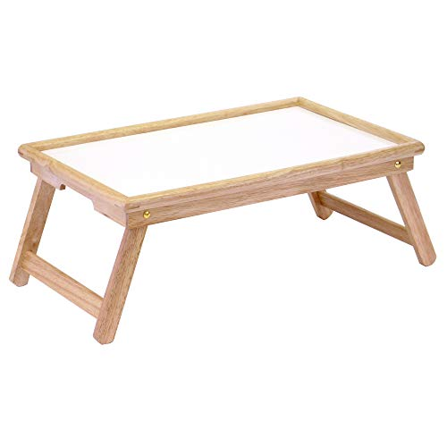 Winsome Wood Stockton Bed Tray, Natural/wht