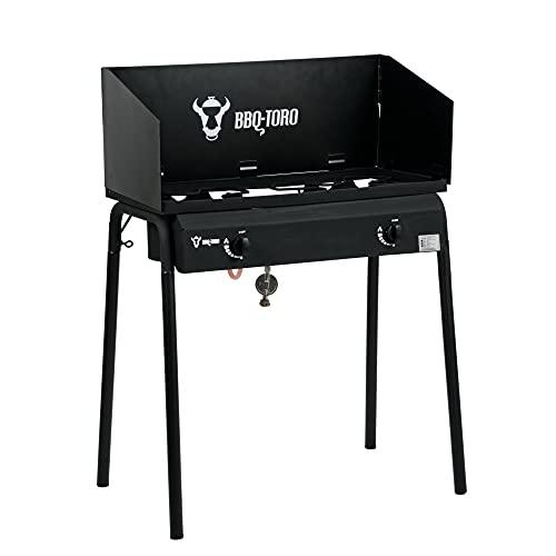 BBQ-Toro Gas Grilltisch mit Windschutz  ...