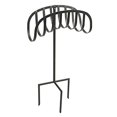 Liberty Garden Products 647 Manger Style Metal Garden Hose Stand, Holds 125-Feet of 5/8-Inch Hose - Black