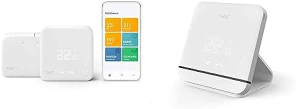 tado° Termostato Inteligente Inalámbrico Kit de Inicio V3+ - Control Inteligente de calefacción + Accesorio para el Termos...