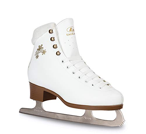 Botas - Model: Stella/Made in Europe (Czech Republic) / Figure Ice Skates for Women, Girls/Nicole Blades/Color: White, Size: Adult 6.5
