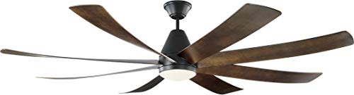 Monte Carlo 8KGR72BKD Kingston Modern Energy Star 72' Ceiling Fan with LED Light and Hand Remote...