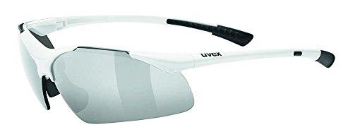 uvex Unisex– Erwachsene, sportstyle 223 Sportbrille, white/silver, Einheitsgröße