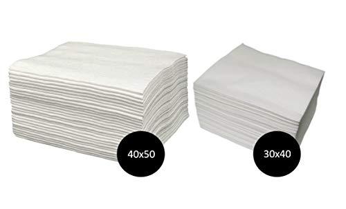 Tollas Spun-Lace Blancas Pedicura 40x50 100 Unidades + Manicura 30x40 100 Unidades