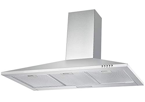 Cookology CH100SS 100cm Extractor Fan | Wall-Mounted Stainless Steel Chimney Cooker Hood