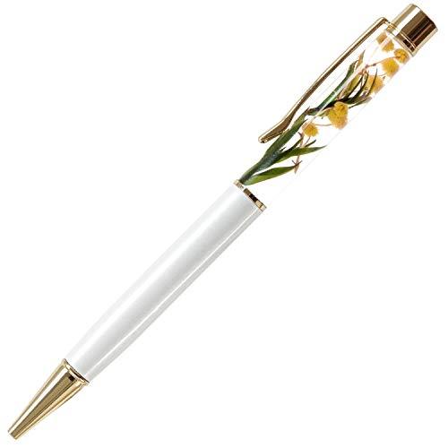 花まりか ハーバリウム ボールペン 替え芯付きボタニカルハーバリウムボールペン ギフト プレゼント (A.ミモザ)