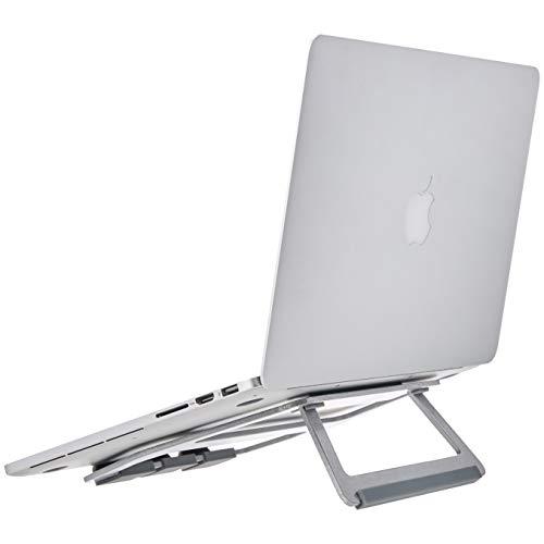 Amazon Basics – Soporte plegable de aluminio para ordenador portátil de hasta 33 cm (13pulgadas), Plateado