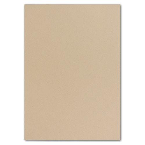 50 DIN A5 Papier-bögen Planobogen - Karamell - 240 g/m² - 14,8 x 21 cm - Bastelbogen Ton-Papier Fotokarton Bastel-Papier Ton-Karton - FarbenFroh