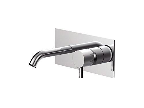 Rubinetto lavabo Ritmonio Diametro35 Inox miscelatore a muro E0BA0113C