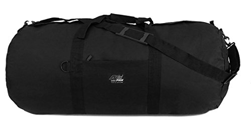 """NPUSA Small 20"""" Inch Round Duffle Duffel Cargo Gear Roll Gym Shoulder Bag Black"""