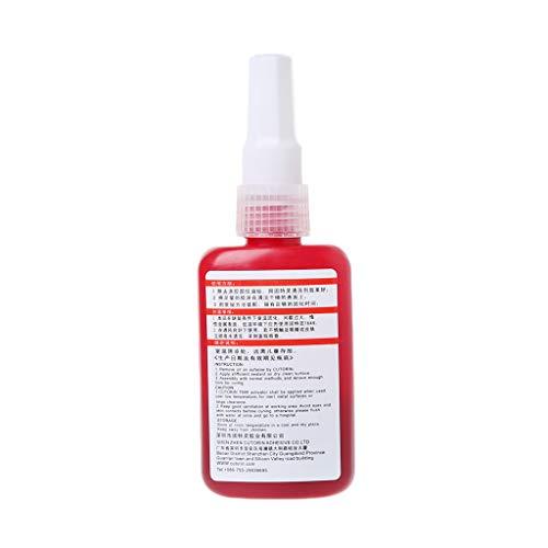 JOYKK Hochfestes 542-Gewindedichtungsmittel Metallrohr Gewindesicherungs-Volldichtungskleber - Rot + Braun