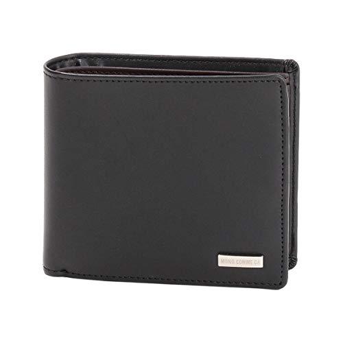 (コムサ イズム) モノコムサ 《牛革/本革》2つ折り 財布 95-20WT03-201 F ブラック