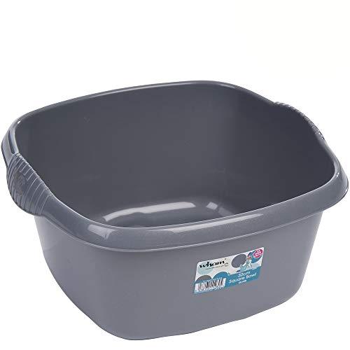 Hummelladen Schüssel aus Kunststoff mit Griffen, grau, robust, 9 L, 32x32 cm, 290 g: Waschschüssel Spülschüssel Plastikschüssel Camping Spüle Behälter Haushalt Küche Zubehör