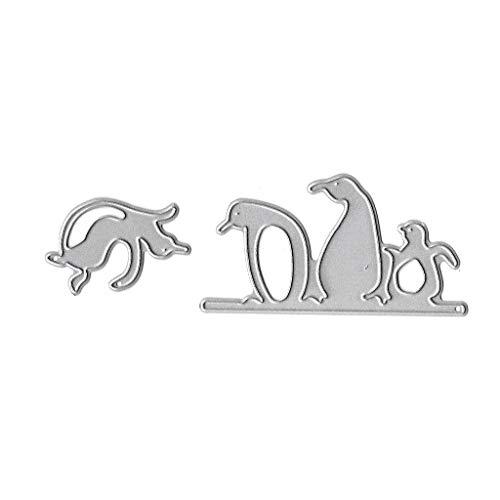 JERKKY Creative Schneidwerkzeuge Schablone, Pinguin Metall Schneidwerkzeuge Schablone DIY Scrapbooking Album Stempel Papierkarte Prägung Dekor Handwerk