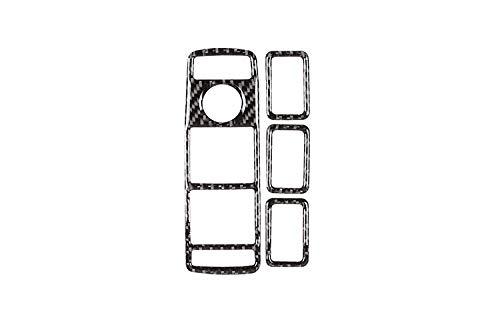 jap768 Soft Carbono Ventana de Coche Clase Interruptor de elevación del botón Marco de moldura en Forma for el Mercedes Benz W246 A B C E W204 W166 GLE GLA X156 CLA W117 GLK (Color : Carbon Fiber)