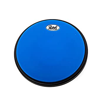 PAITITI 8 Inch Silent Portable Practice Drum Pad Round Shape with Carrying Bag Blue Color