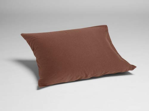 Kussensloop jersey chocolate brown 50x60