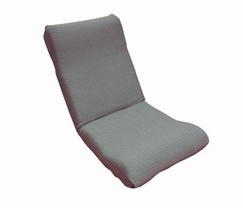 日本製 ぴったりフィット 撥水 のびのびストレッチ 座椅子カバー グレー