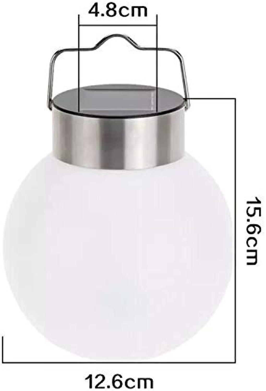 BGHFXS Solar Hngen Lampe Edelstahl Runde Ball Hngen Lampe Garten Dekorative Lampe Outdoor Sonnenenergie