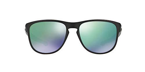 Oakley Sliver R Gafas de sol, Matte Black W/Jade Iridium, 0 Unisex