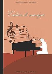 Cahier de musique à remplir: Cahier de partitions, 5 portées de partitions par page dans le sens le plus long du carnet, 99 pages, 17x24cm (French Edition)