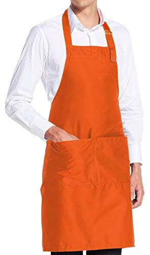 vanVerden - Premium Schürze - Orange Blanko - Orangene Latz-Schürze