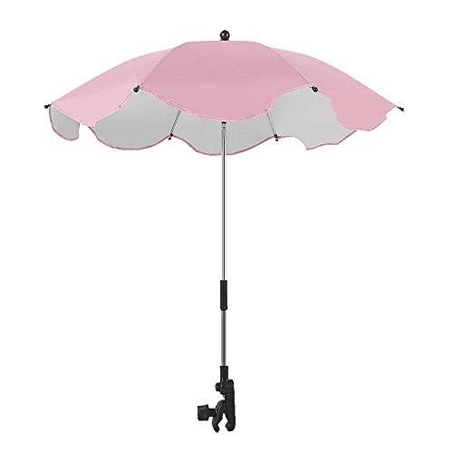 ZYZED Universele parasol voor baby's, parasol, UV-zonnescherm, voor kinderwagen, buggy, Blanco Y Gris (zwart) - 6939134853128