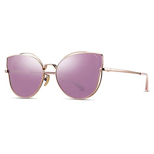 Protecciones Gafas Protectoras Gafas de Sol Niños Anti-Ultraviolet Metal Line Hollow Cat-Eye Glasses Fashion Girls Boys Personalidad Tendencia Accesorios para 6~12 años Ojos
