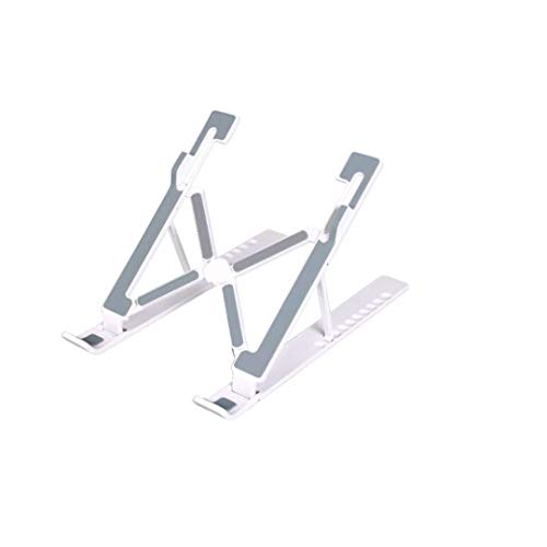 Upgraded Laptop Stand, Adjustable Laptop Stand, Portable Foldable Laptop Stand, Compatible with All 11-17 inch laptops (White)