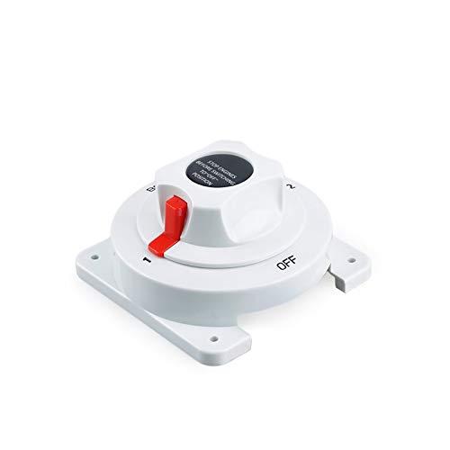 Agnus Interruptor de la batería de la batería de la batería del Barco Marino de la distribución Blanca Ajuste del Interruptor de la batería Dual Marina para el Motor RV del Barco YC101589
