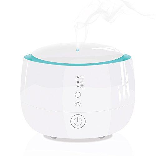 Smart Wifi Wireless Aromaterapia con aceites esenciales, humidificador ultrasónico de 300 ml, compatible con Alexa y Google Home, interruptor de seguridad de apagado automático