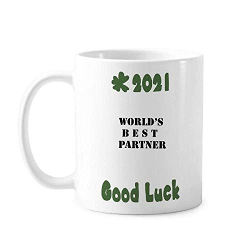 Best Partner Teammate Colleague Good Luck 2021 - Taza de cerámica para café