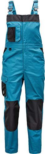 DINOZAVR Cremorne Herren Arbeitslatzhose - Strapazierfähig Arbeitshose mit Knietaschen und Elastischem Bund - Benzin blau 56