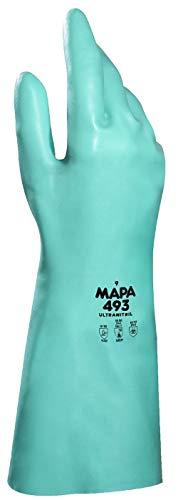 Mapa Professional Ultra-493-GR-KABEL 9protezione guanti in Nitrile, colore: verde (Confezione da 2)