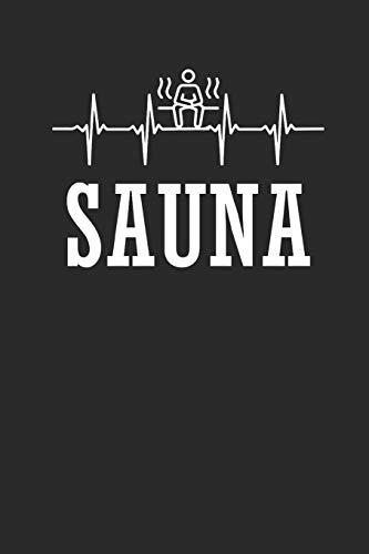 SAUNA: Notizbuch Sauna Notebook Aufguss Journal 6x9 squared kariert (German Edition)