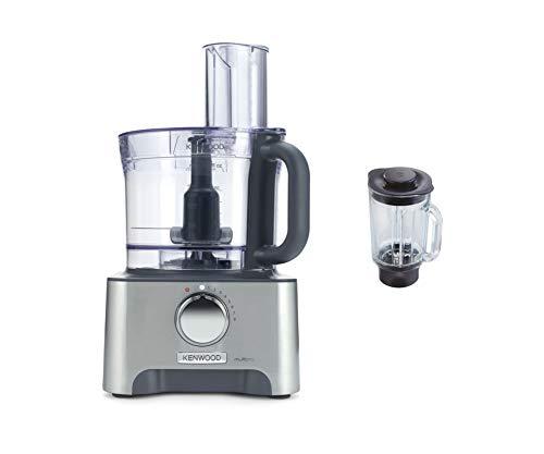 Kenwood FDM781BA MultiPro Food Processor, Robot da Cucina con Frullatore, 1000 W, 3 Litri, Metallo Pressofuso, Argento