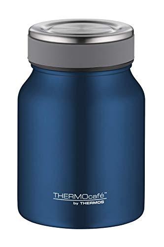 ThermoCafé by THERMOS Thermobehälter für Essen, Edelstahl Blau 500ml - Isolier-Speisegefäß für Suppe oder Müsli, dicht, spülmaschinenfest, 9 Stunden heiß, 14 Stunden kalt, BPA-Free - 4077.259.050