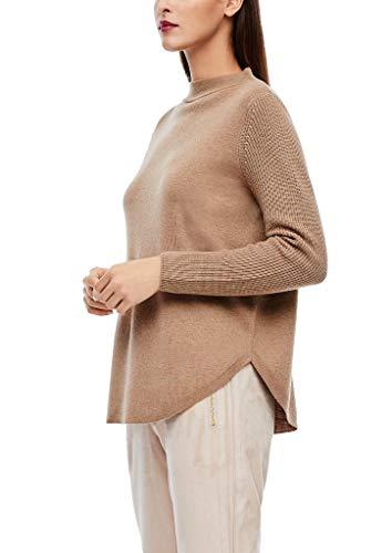 s.Oliver BLACK LABEL Damen Pullover mit abgerundetem Saum brown melange 40