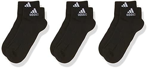 adidas Cush ANK 3PP Calcetines, Negro, L Unisex Adulto