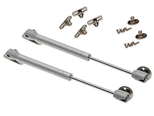 2 X Mprofi MT® Klappenbeschlag Gasdruckfeder für Küchen Gasdruckdämpfer 100N Länge-247mm 100N/2