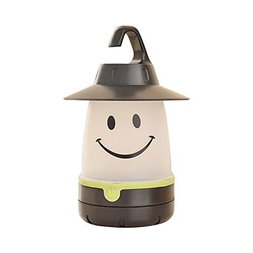 ZSRLX Linterna de camping, portátil, para camping, senderismo, jardín, emergencia, color negro
