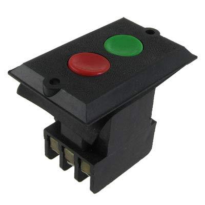 X-Dr KAO-5B Selbstsperrender roter grüner Drucktastenschalter 3P 380V AC 5A (94942cb9811d6731f83fa20f1a6bedc1)