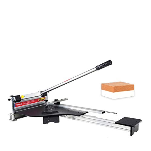 Newly Launched Norske Tools NMAP006 13 inch Laminate Flooring and Siding Cutter with CLAMP and Sliding Extension Table including BONUS Honing Stone