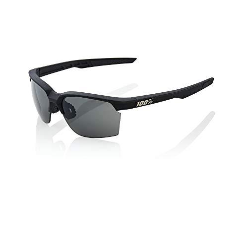 100 Percent Sportcoupe - Occhiali morbidi al tatto, da uomo, colore: nero, misura media