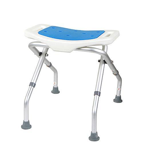Opvouwbare badstoel douchestoelen aluminium frame, inklapbare douchestoel voor gehandicapte badkamer in hoogte verstelbaar toilet badkamer stoel toilet toilet bad stoel